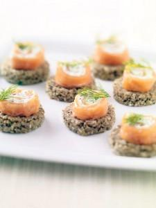 Smoked Salmon Rolls with Cream Cheese and Red Onion