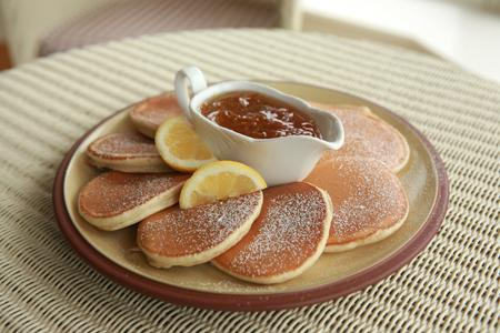 Yeats Country Pancakes with Citrus Syrup